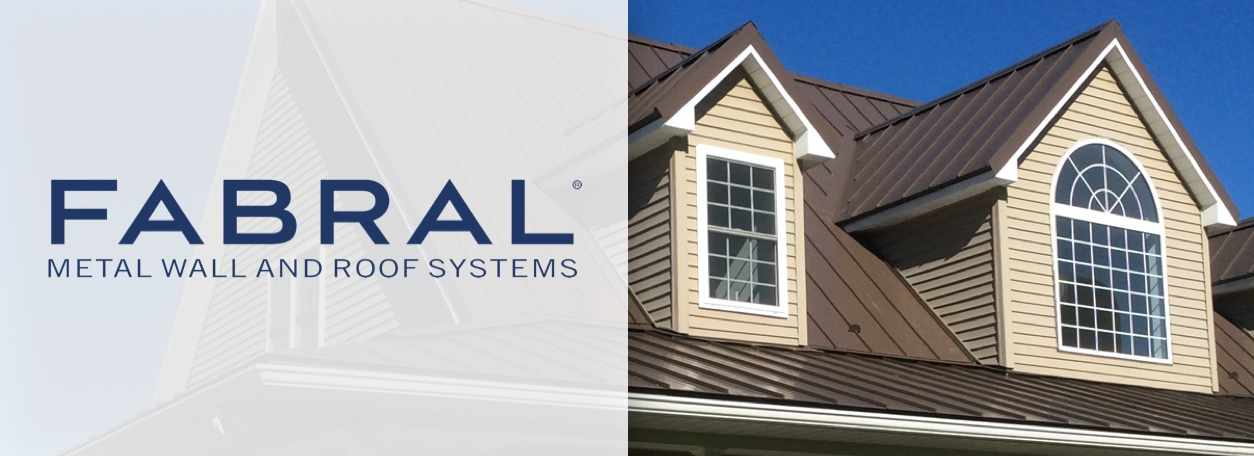 Fabral Metal Wall and Roof Systems logo with house in background