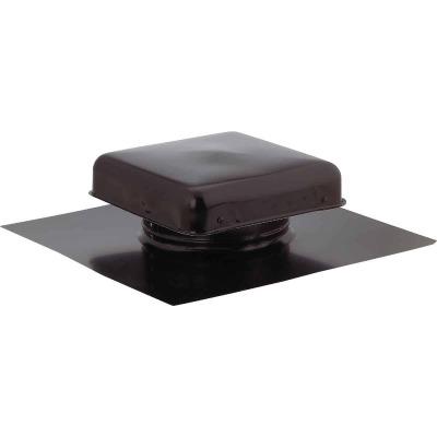 """NorWesco 7-3/4"""" Galvanized Steel Black Static Roof Mount Attic Vent"""