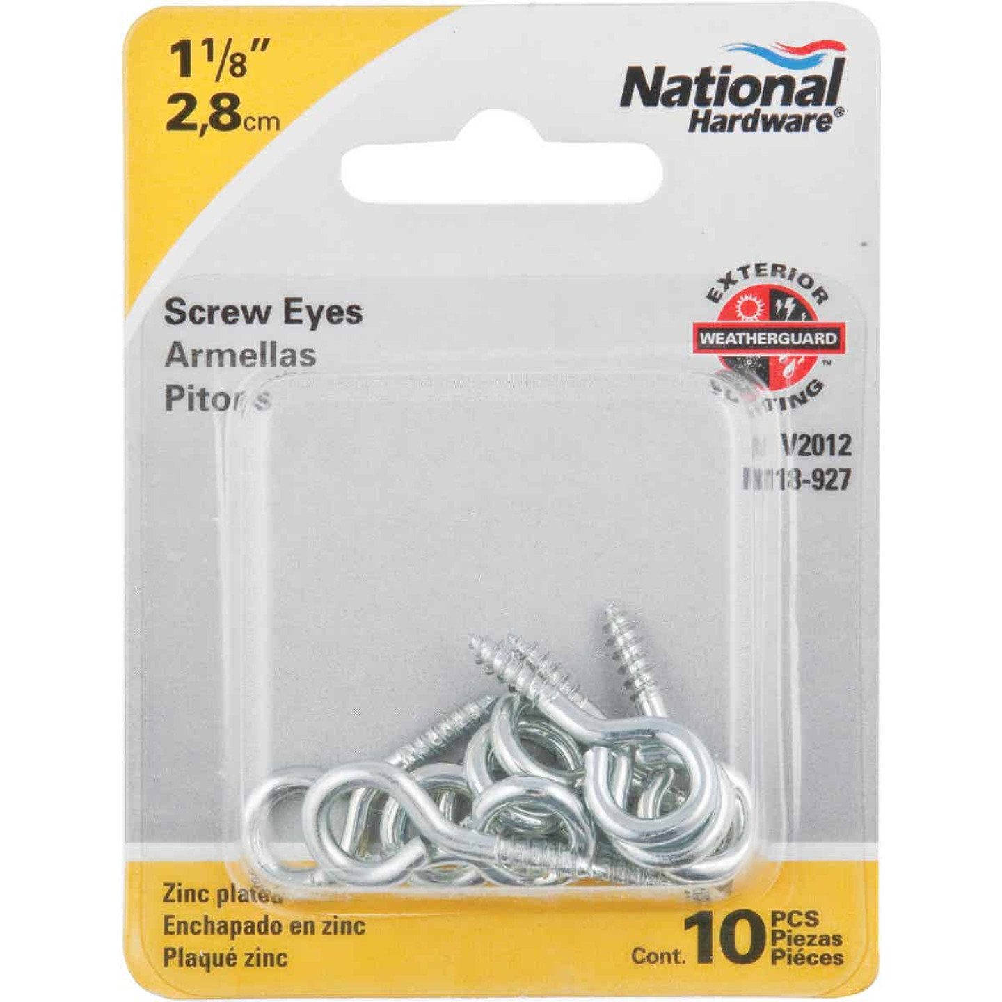 National #112 Zinc Medium Screw Eye (10 Ct.) Image 2