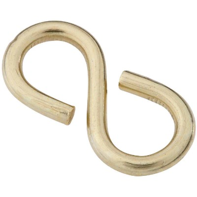 National 1-1/4 In. Brass Light Closed S Hook (2 Ct.)