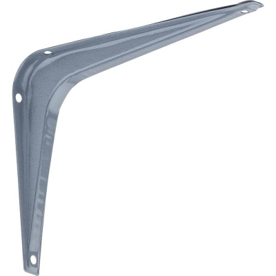 National 211 5 In. D. x 6 In. H. Gray Steel Shelf Bracket