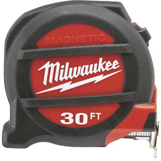 Milwaukee 30 Ft. Magnetic Tape Measure with Blueprint Scale