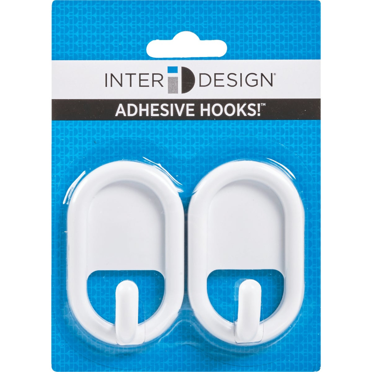 InterDesign Utility White Plastic Adhesive Hook (2-Pack) Image 2