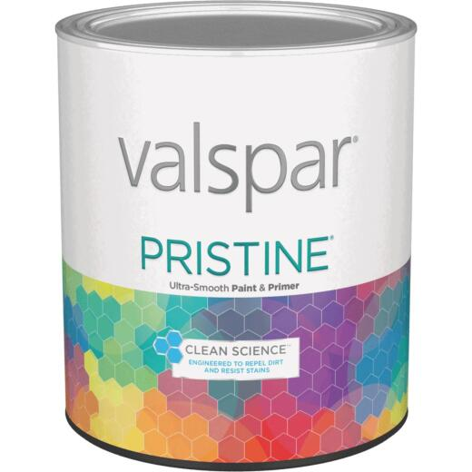 Valspar Pristine 100% Acrylic Paint & Primer Satin Interior Wall Paint, White, 1 Qt.